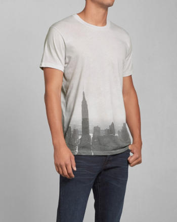 Mens Photoreal City Graphic Tee
