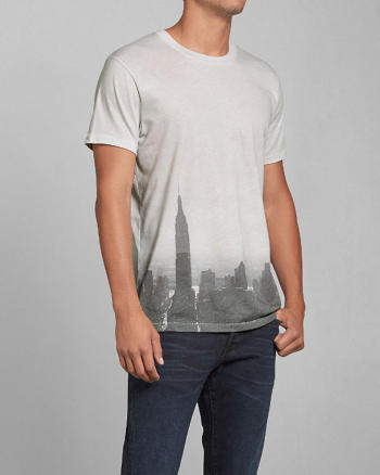 ANF Photoreal City Graphic Tee