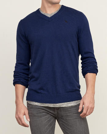 ANF Iconic V Neck Sweater