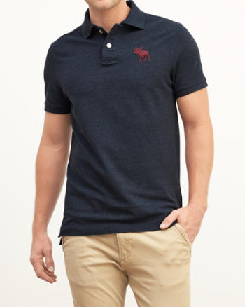Mens Classic Fit Big Icon Polo