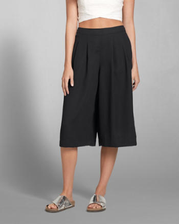 Womens Drapey Gaucho Pants