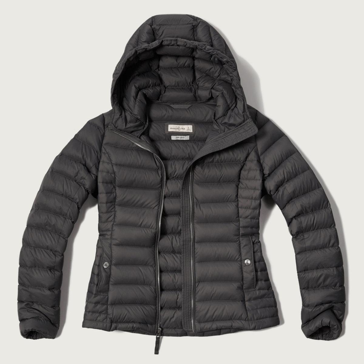 A&F Down Series Hooded Lightweight Puffer Jacket