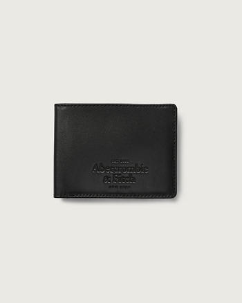 ANF Logo Embossed Leather Wallet