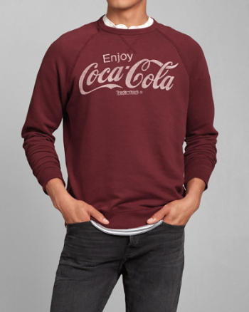Mens Coca-Cola Crew Sweatshirt