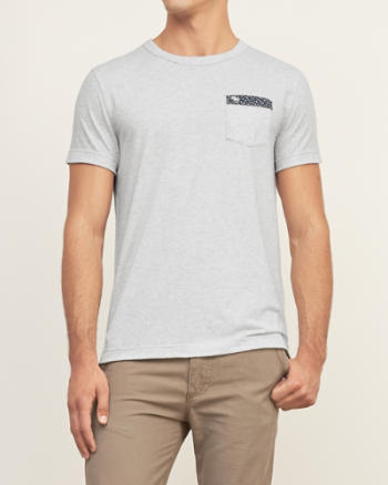 Mens Pattern Lined Pocket Tee