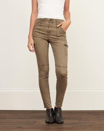 Womens Brown Military Pants