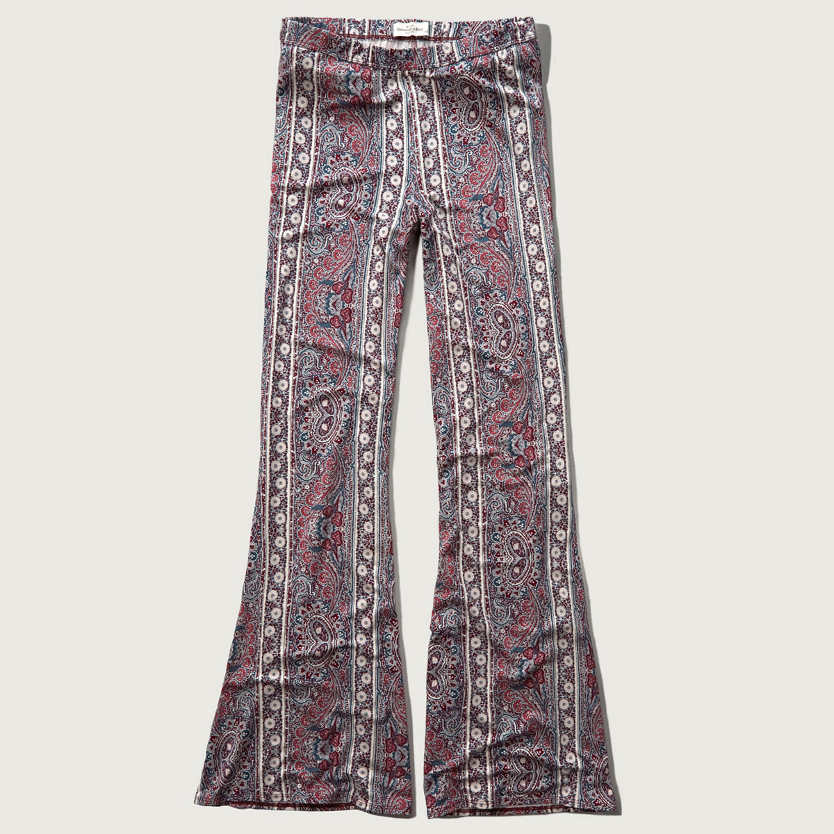 Pattern Drapey Flare Pants