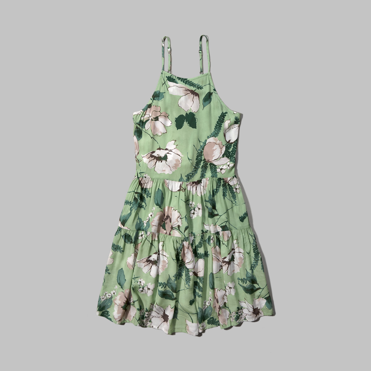 Floral Tiered Swing Dress