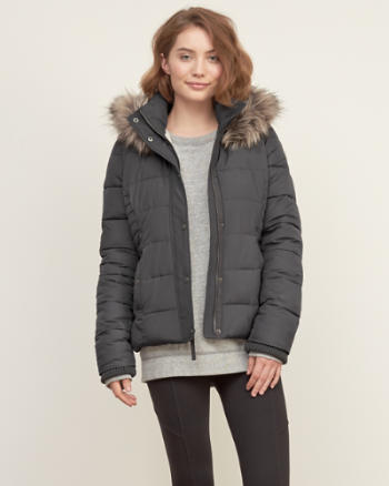 ANF A&F Premium Puffer Jacket