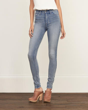 Womens High Rise All-Way Stretch Super Skinny Jeans