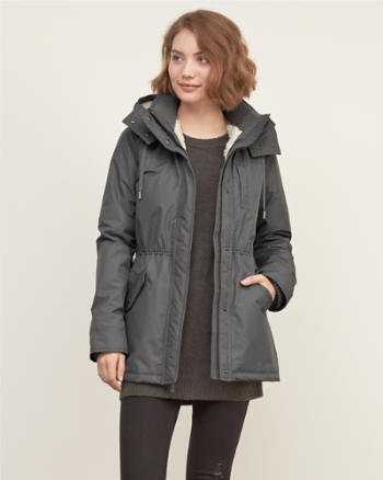 Womens A&F Sherpa Weather Warrior Parka
