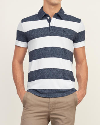 Mens Contrast Collar Polo