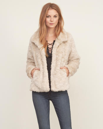 Womens Faux Fur Jacket