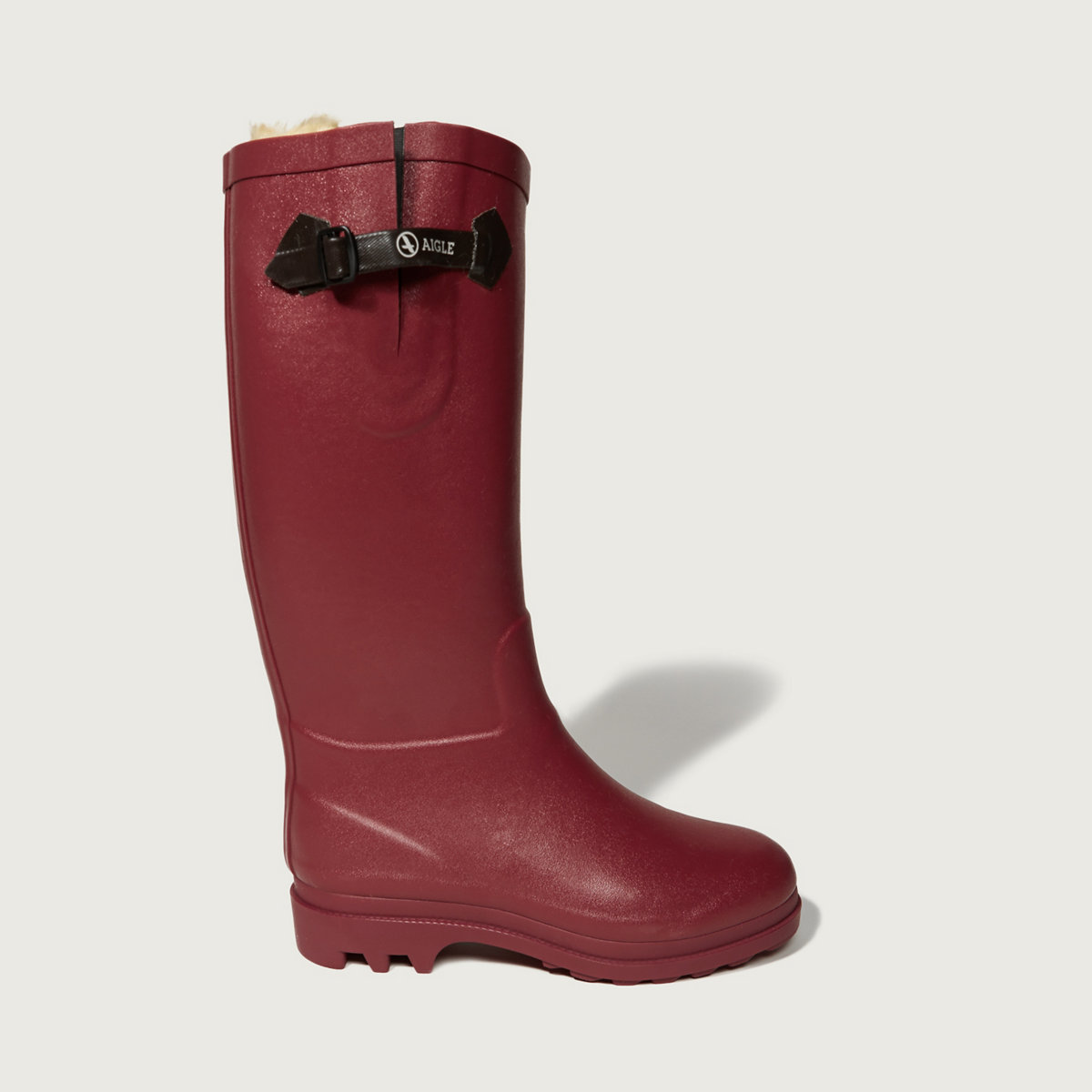 Aigle Aiglentine Fur Bordeaux Boot