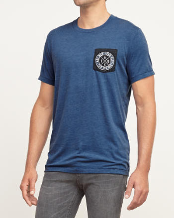 Mens Contrast Graphic Tee