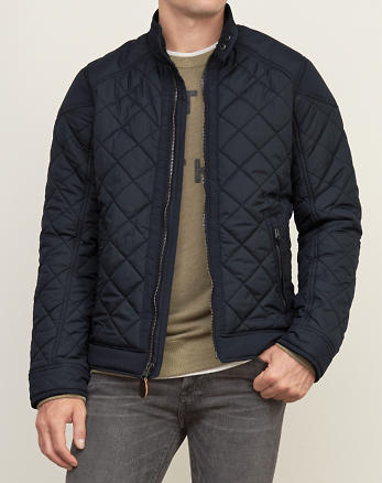ANF Quilted Bomber Jacket