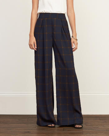 ANF Patterned Wide Leg Pants