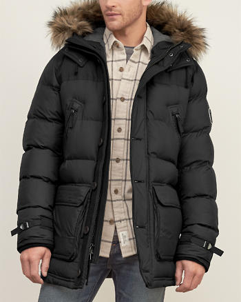 ANF Hooded Puffer Parka