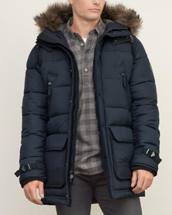 Mens Hooded Puffer Parka