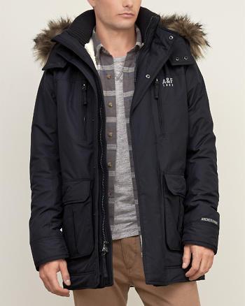 ANF Sherpa Lined Nylon Parka