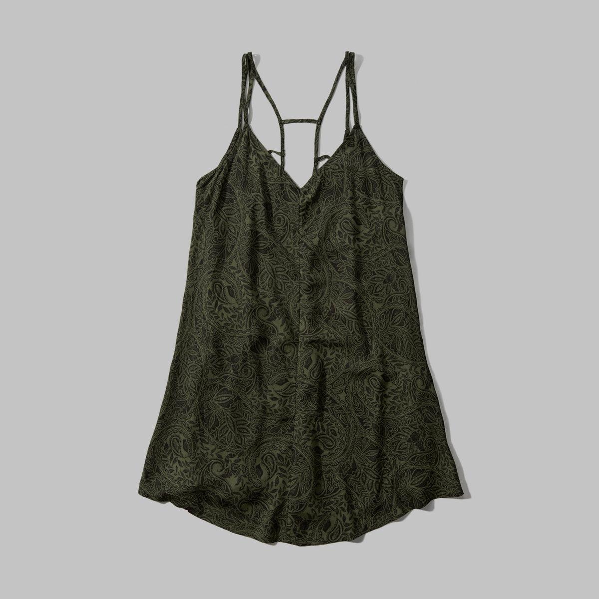Patterned Strappy Swing Dress