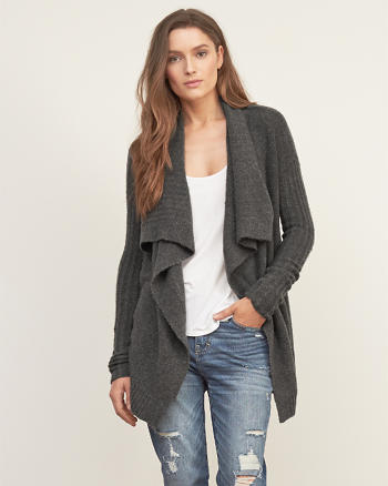 ANF Textured Drapey Cardigan