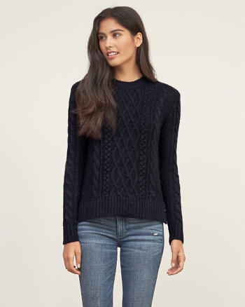 ANF Cable Knit Pullover