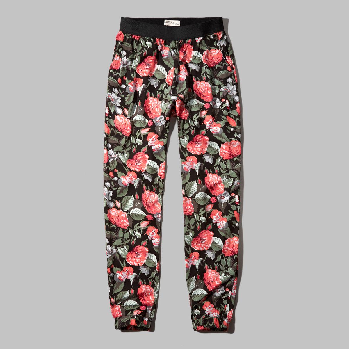 Patterned Drapey Pants