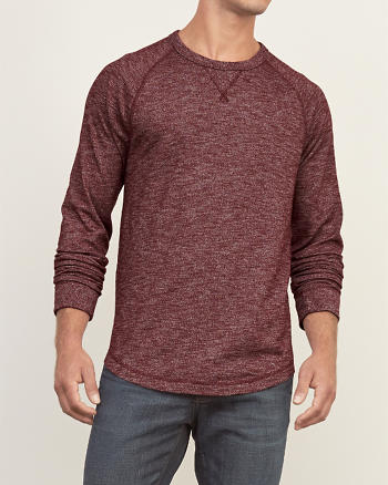 ANF Textural Knit Crew Tee