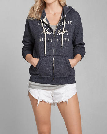 ANF Embroidered Logo Graphic Hoodie