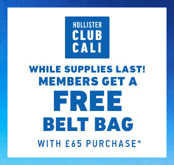 f889996604 Hollister Club Cali. While supplies last! Members get a free belt bag with £