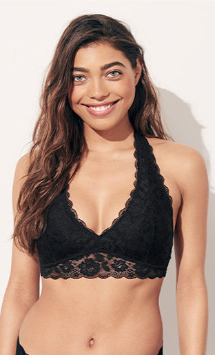 01f014998 Click here to shop gilly hicks by Hollister Halter Bralette