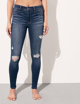 436be3762 Jeans de chica - Todos los estilos y tallas de denim | Hollister Co.