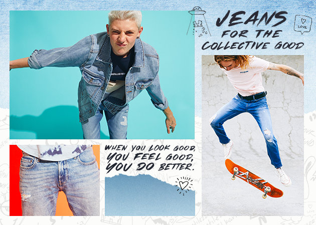 2ff4aeb8 Jeans for the collective good. When you look good, you feel good, you