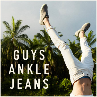 Guys Ankle Jeans