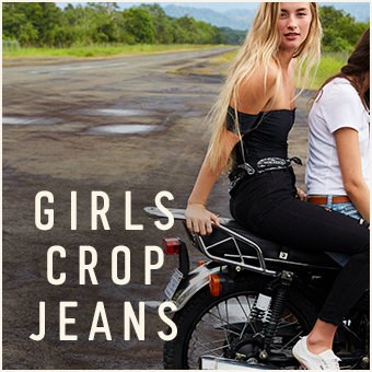 Girls Crop Jeans