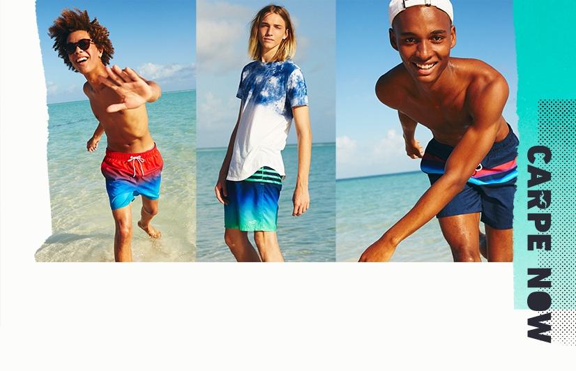 Pantaloncini Da Bagno Ragazzo : Costumi da bagno per lui hollister co