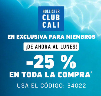 39f4903b0f Hollister Club Cali Member exclusive now - monday! 25% off entire purchase   use