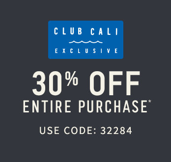 Club Cali Exclusive 30% Off Entire Purchase Use Code: 32284