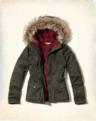 Hollister Heritage Flannel Lined Anorak