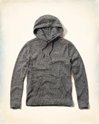 Textured Sweater Hoodie