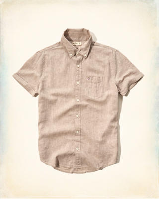 Solid Cotton-Linen Shirt