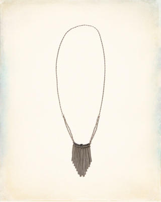 Fringe Beaded Chain Necklace