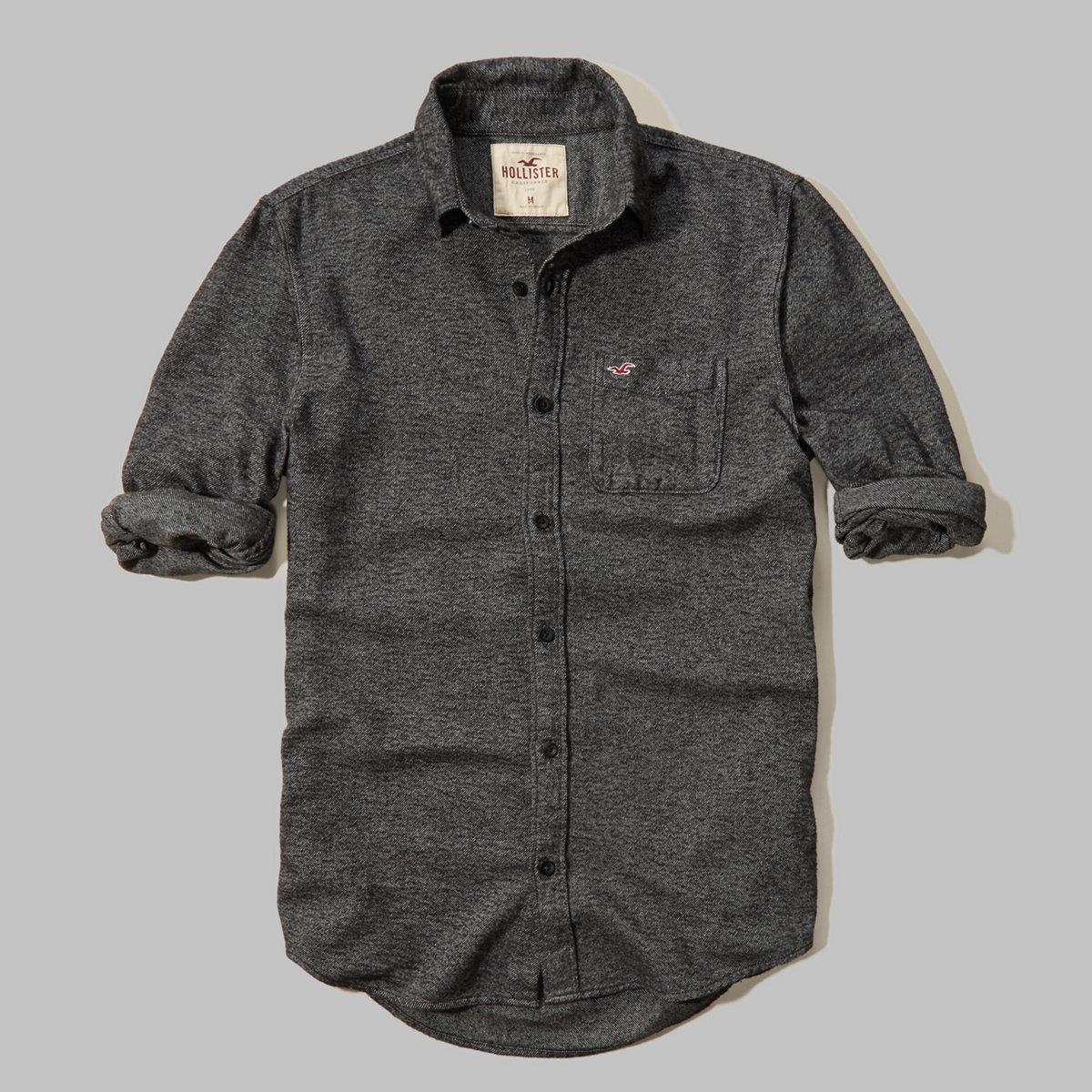 Textured Flannel Shirt