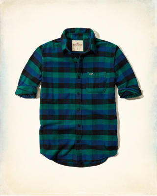 Textured Flannel Shirt