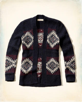 Patterned Open Sweater