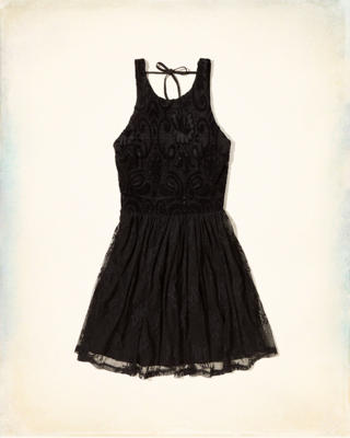 Lace Mix Skater Dress