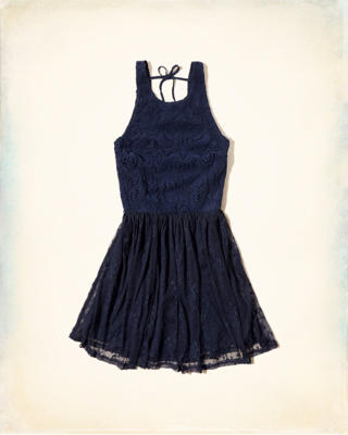 Mix Lace Skater Dress