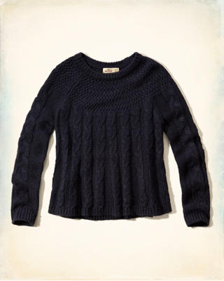 Cable Swing Sweater