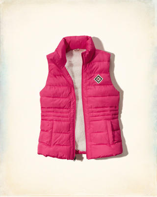 Sherpa-lined Down Puffer Vest